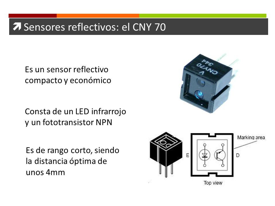  Sensores reflectivos: el CNY 70