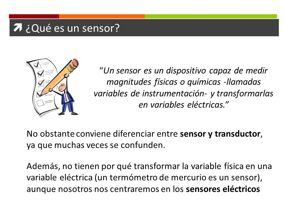 ¿Qué es un sensor