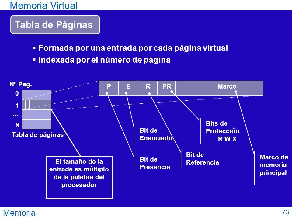 El tamaño de la entrada es múltiplo de la palabra del procesador