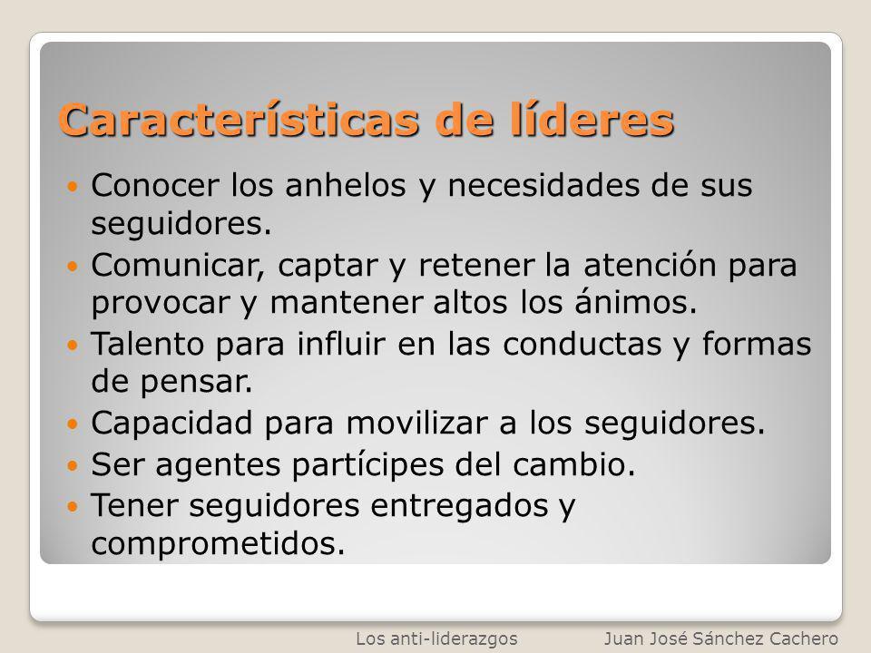 Características de líderes