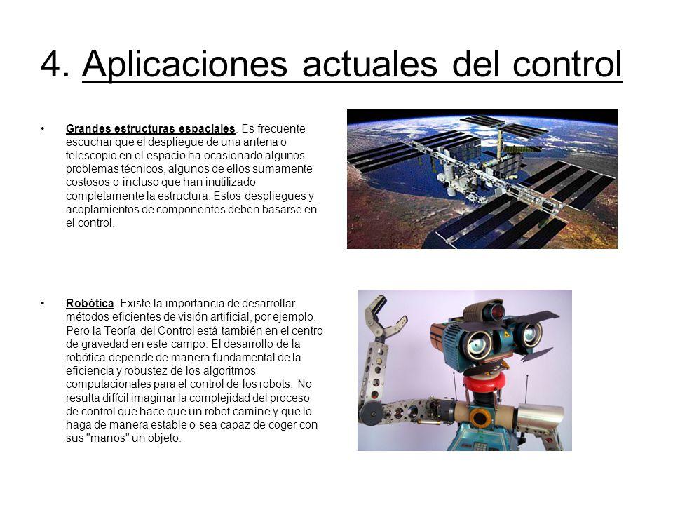 4. Aplicaciones actuales del control
