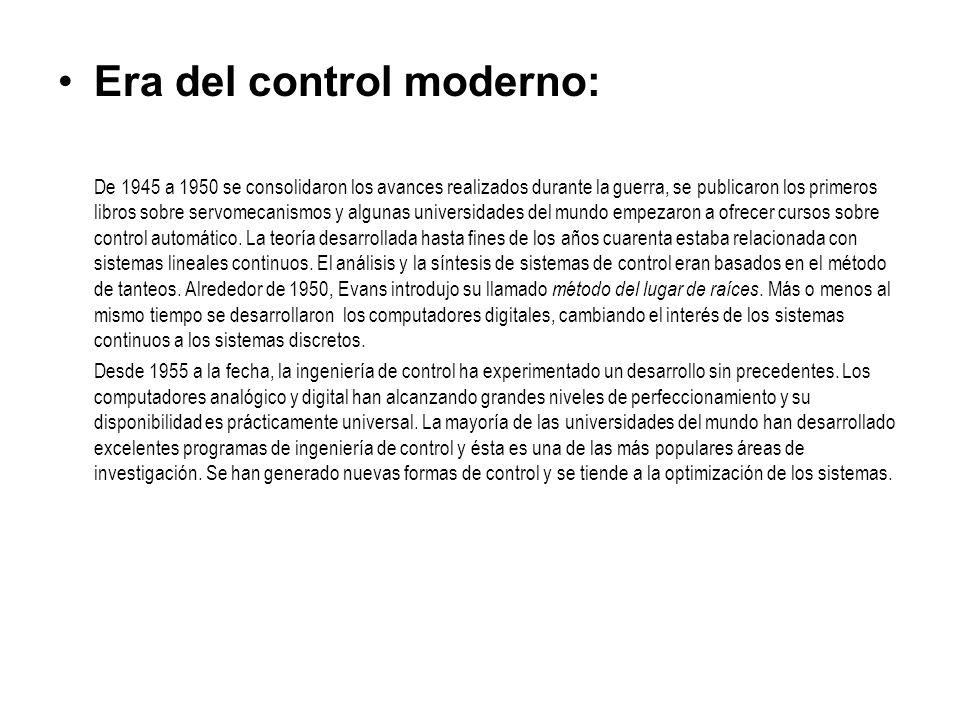 Era del control moderno: