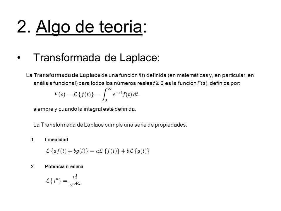 2. Algo de teoria: Transformada de Laplace: