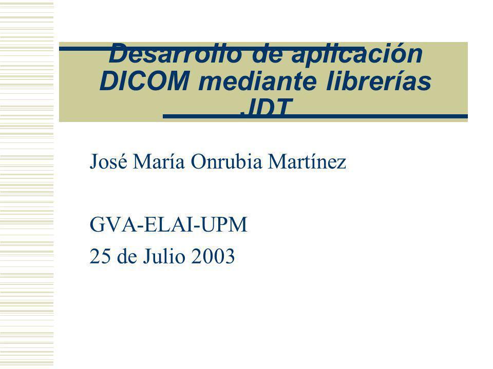 Desarrollo de aplicación DICOM mediante librerías JDT