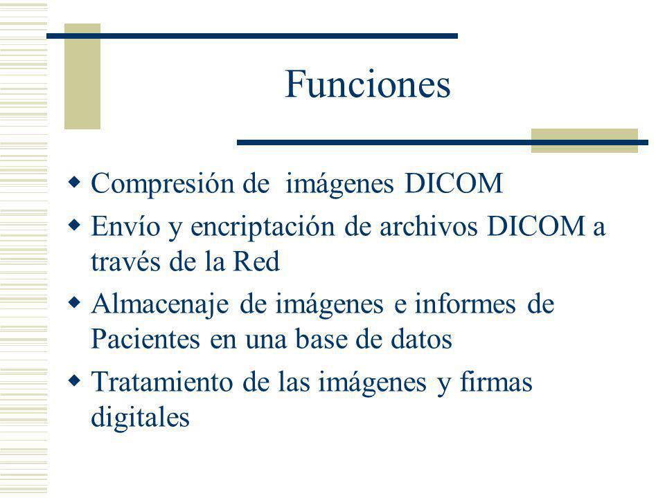 Funciones Compresión de imágenes DICOM