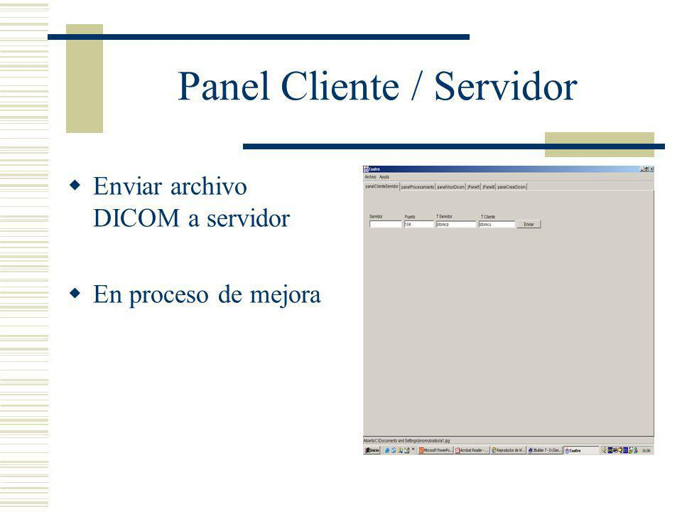 Panel Cliente / Servidor