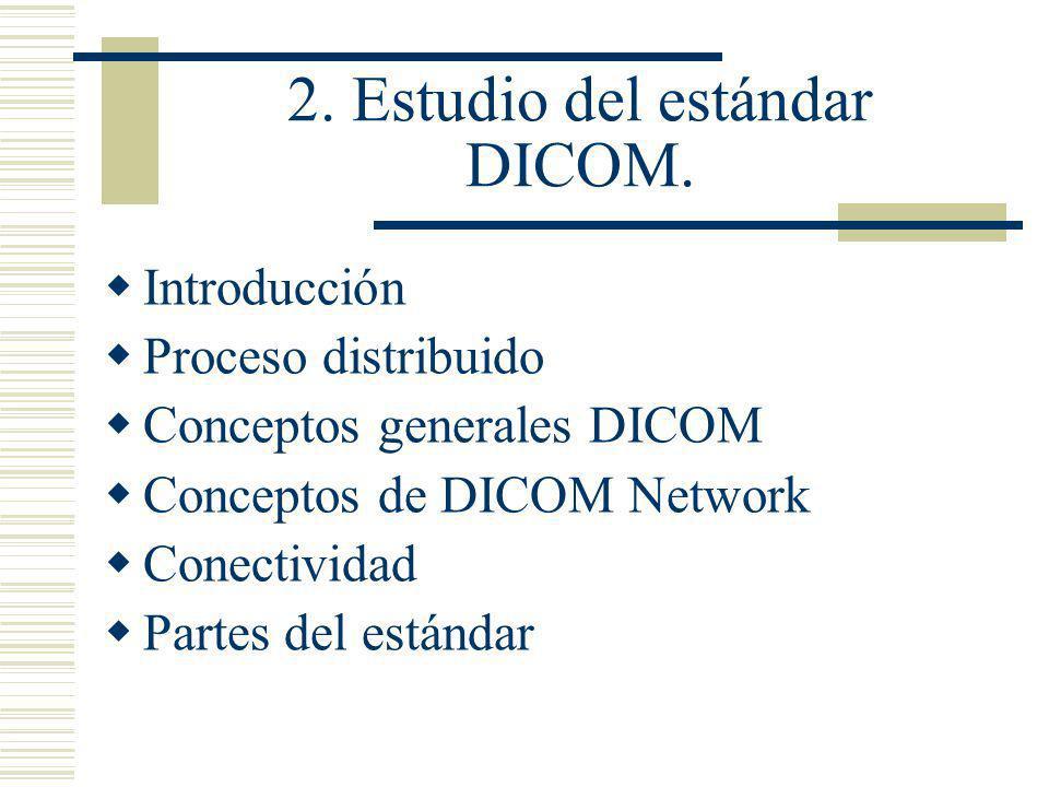 2. Estudio del estándar DICOM.