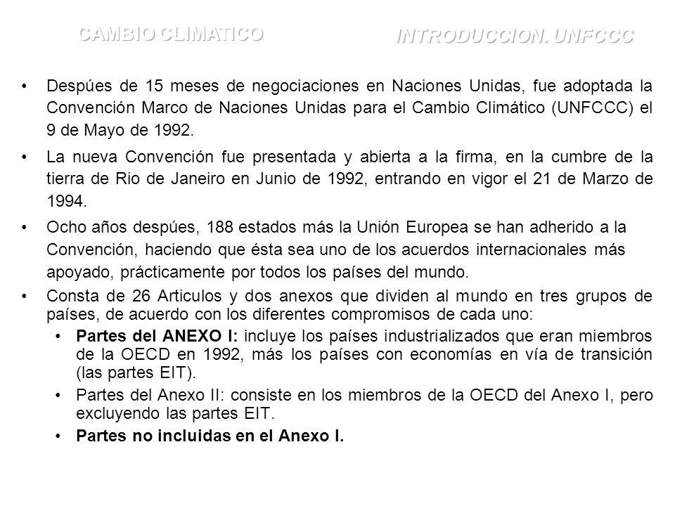 CAMBIO CLIMATICO INTRODUCCION. UNFCCC