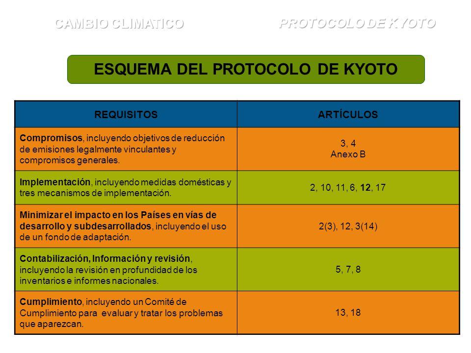 ESQUEMA DEL PROTOCOLO DE KYOTO