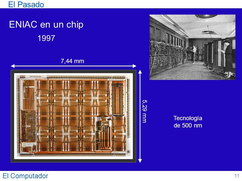 ENIAC en un chip El Pasado 1997 El Computador 7,44 mm 5,29 mm
