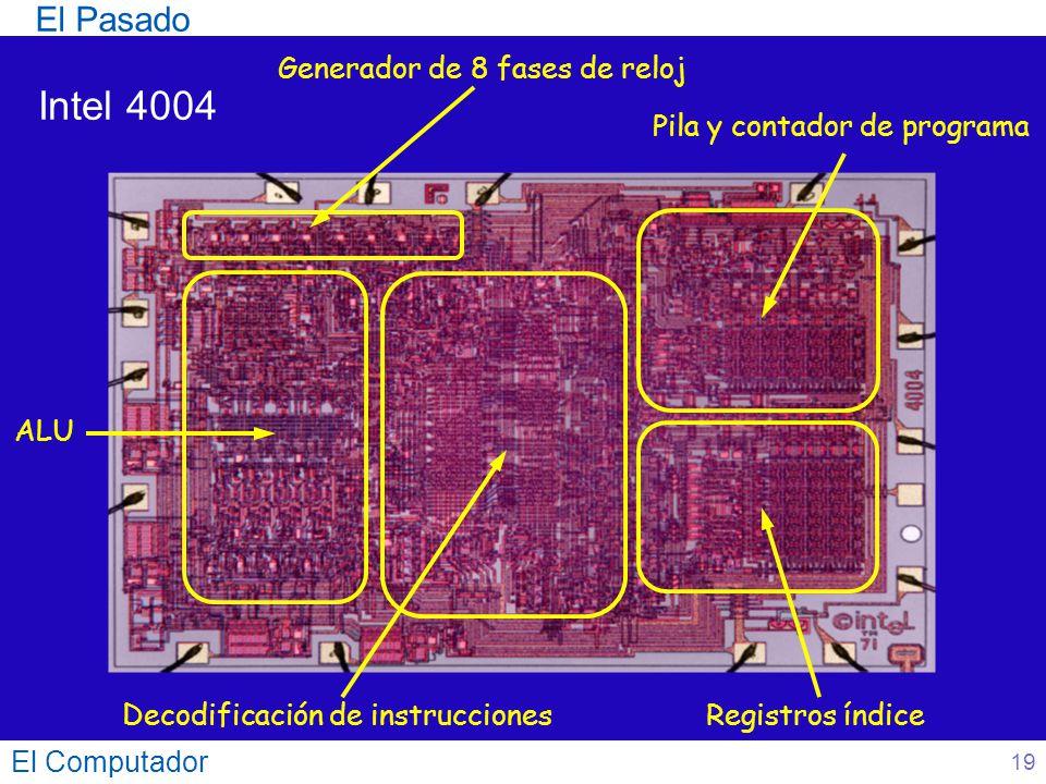 Intel 4004 El Pasado Generador de 8 fases de reloj