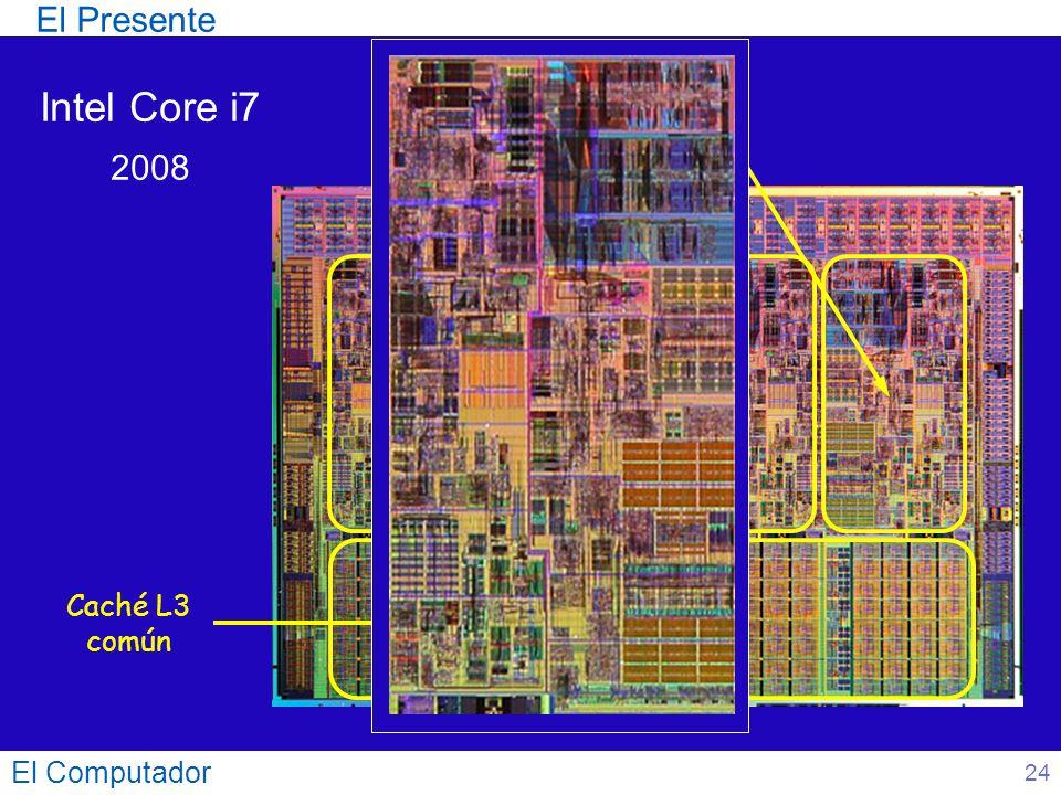 El Presente Intel Core i7 2008 Núcleos Caché L3 común El Computador 24