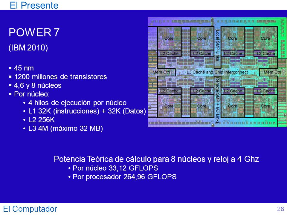 POWER 7 El Presente (IBM 2010)