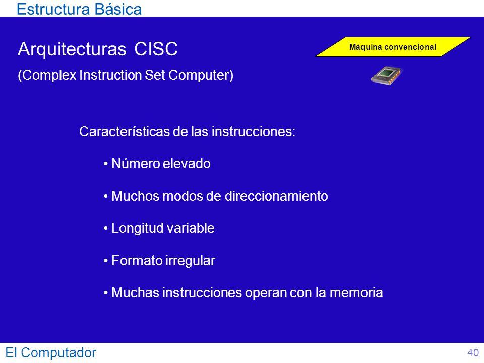 Arquitecturas CISC Estructura Básica