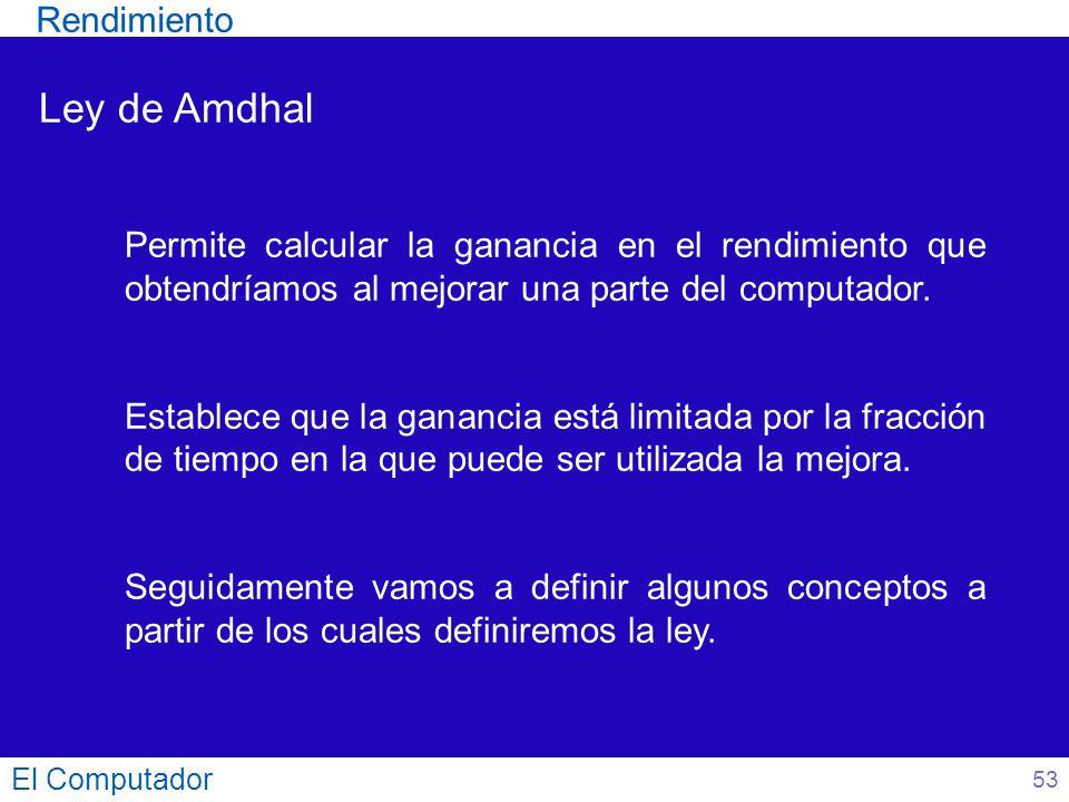 Ley de Amdhal Rendimiento