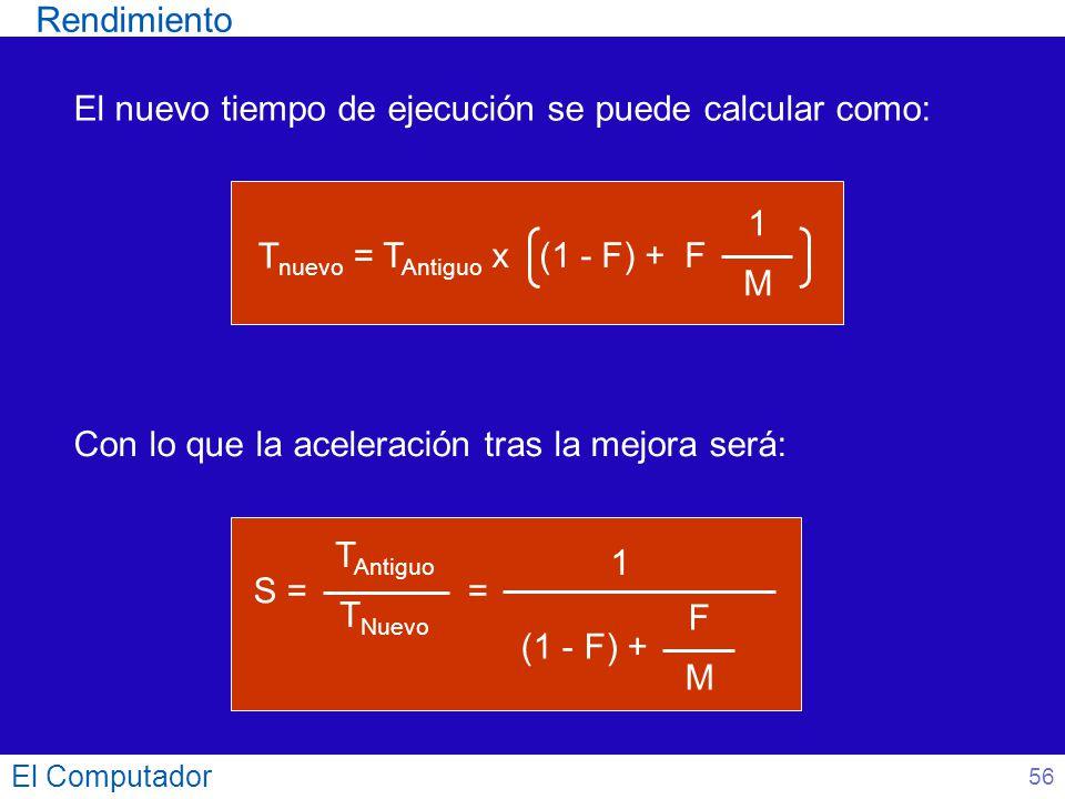 El nuevo tiempo de ejecución se puede calcular como: