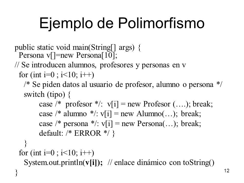 Ejemplo de Polimorfismo