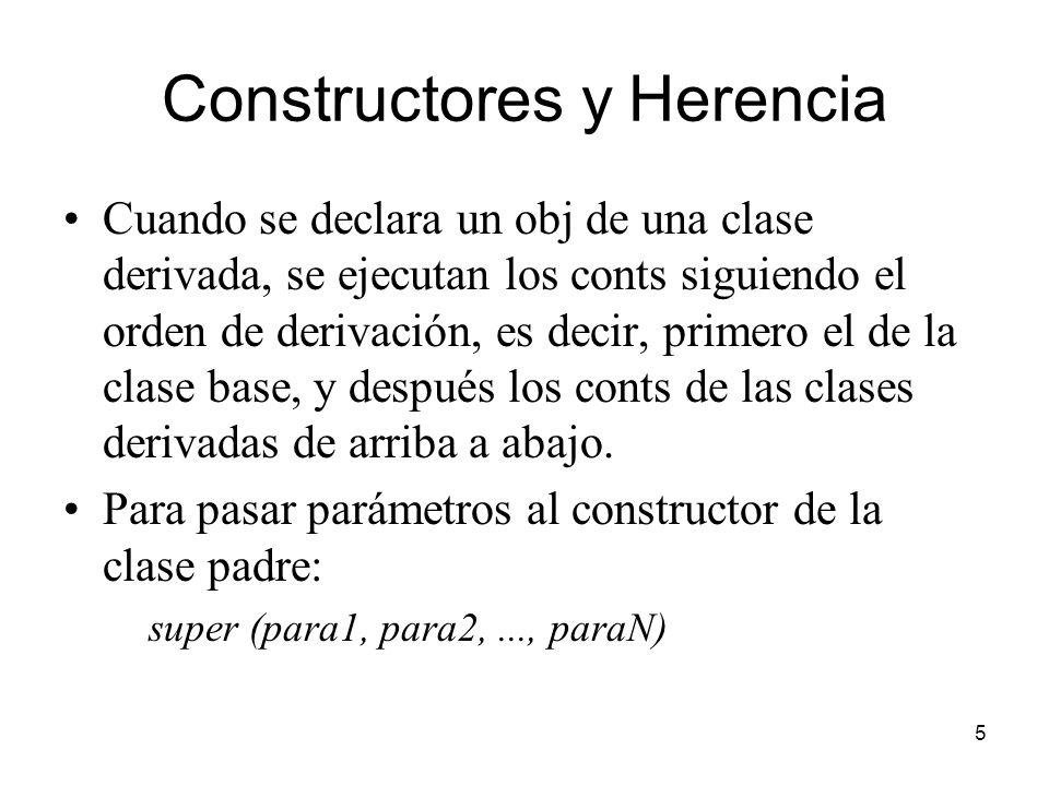 Constructores y Herencia