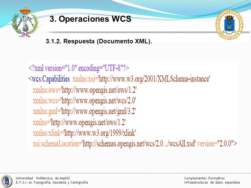 3. Operaciones WCS 3.1.2. Respuesta (Documento XML).