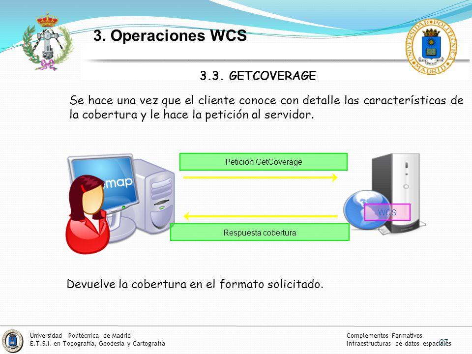 3. Operaciones WCS 3.3. GETCOVERAGE