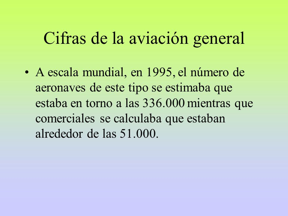 Cifras de la aviación general