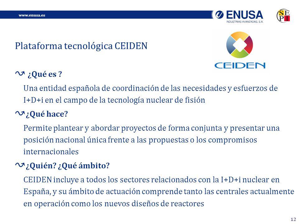 Plataforma tecnológica CEIDEN