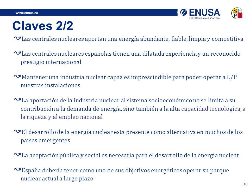 Claves 2/2 Las centrales nucleares aportan una energía abundante, fiable, limpia y competitiva.