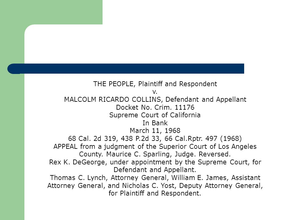THE PEOPLE, Plaintiff and Respondent v.