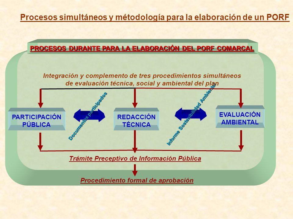 Procesos simultáneos y métodología para la elaboración de un PORF