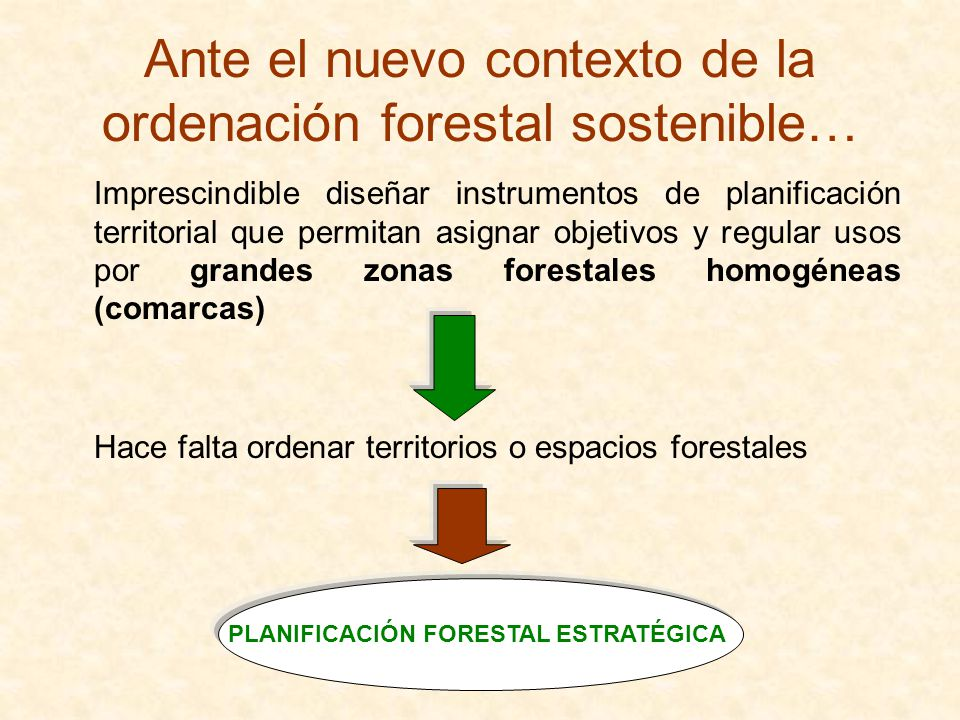 Ante el nuevo contexto de la ordenación forestal sostenible…