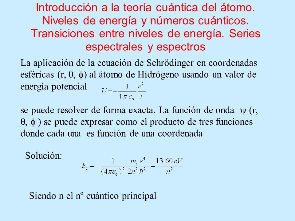 Introducción a la teoría cuántica del átomo