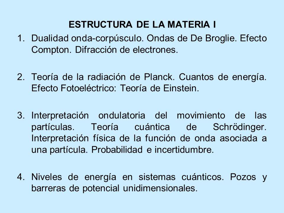 ESTRUCTURA DE LA MATERIA I