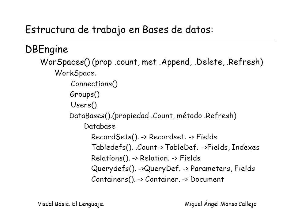 Estructura de trabajo en Bases de datos: