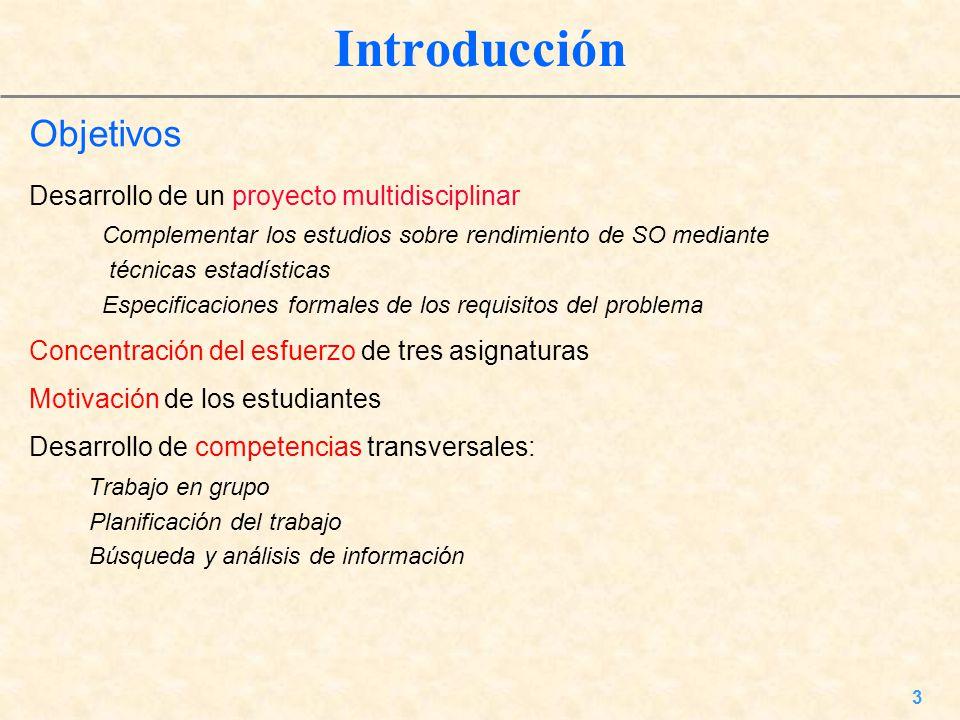 Introducción Objetivos Desarrollo de un proyecto multidisciplinar