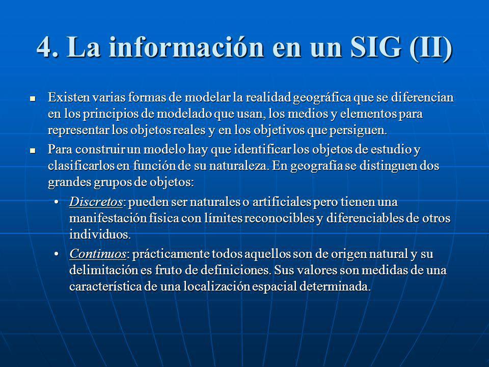4. La información en un SIG (II)