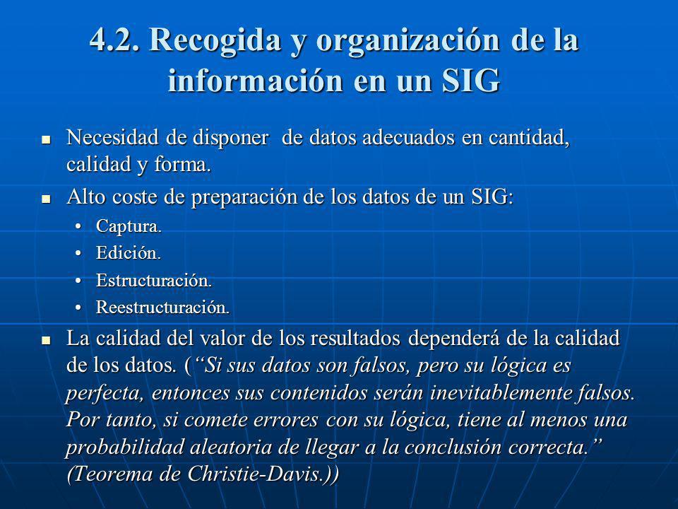 4.2. Recogida y organización de la información en un SIG