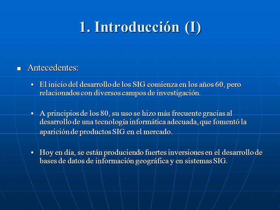 1. Introducción (I) Antecedentes: