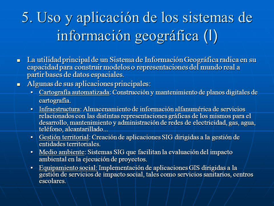 5. Uso y aplicación de los sistemas de información geográfica (I)