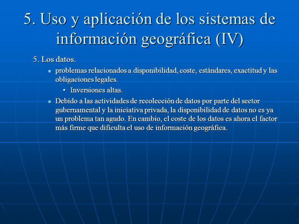 5. Uso y aplicación de los sistemas de información geográfica (IV)