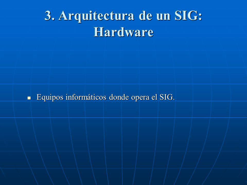 3. Arquitectura de un SIG: Hardware