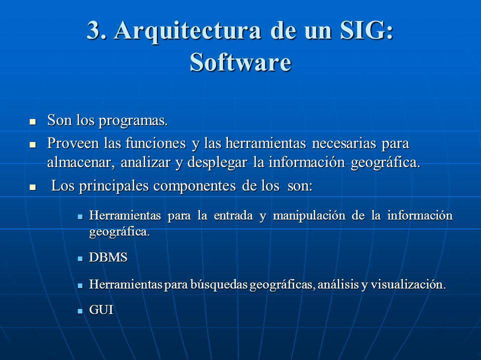 3. Arquitectura de un SIG: Software