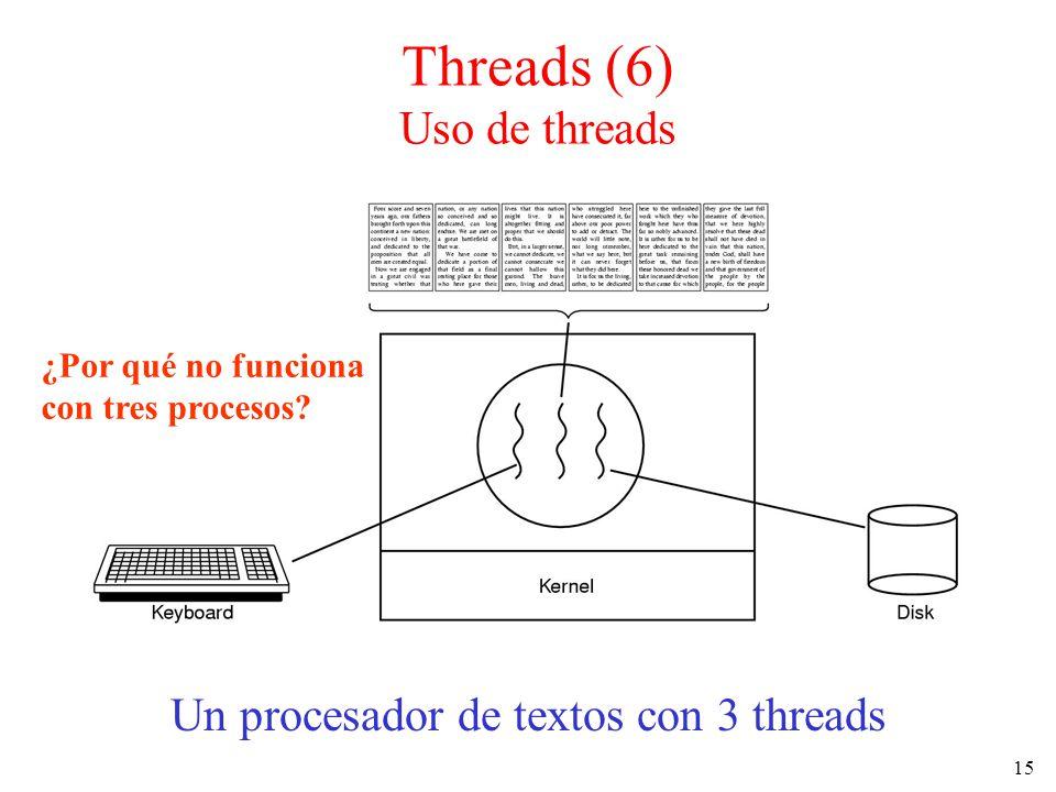 Threads (6) Uso de threads