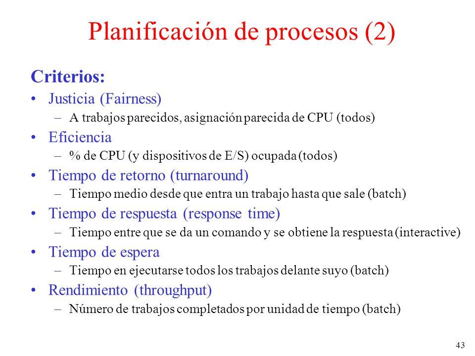 Planificación de procesos (2)