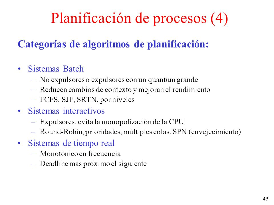 Planificación de procesos (4)