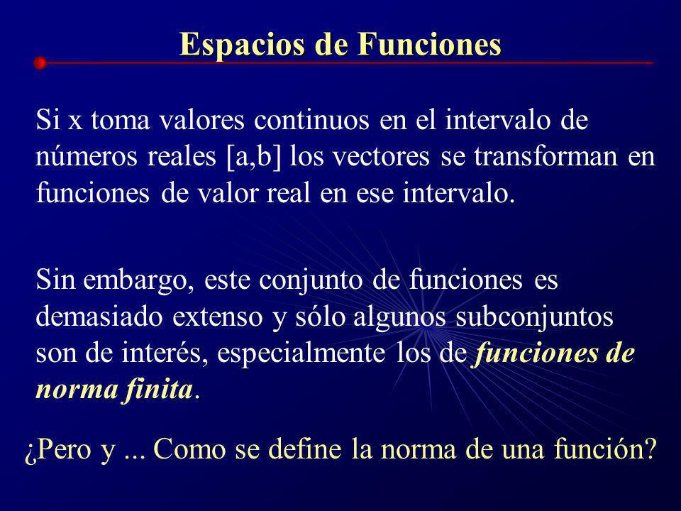 Espacios de Funciones