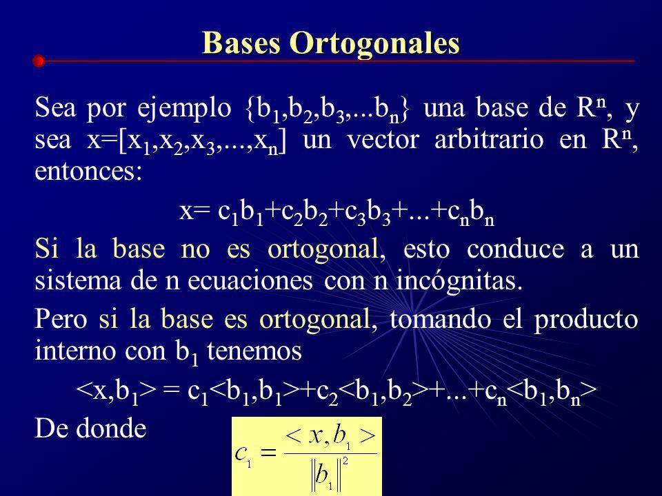 <x,b1> = c1<b1,b1>+c2<b1,b2>+...+cn<b1,bn>