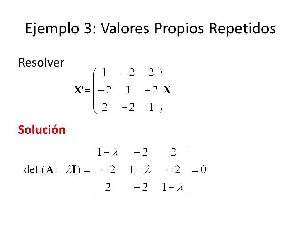 Ejemplo 3: Valores Propios Repetidos