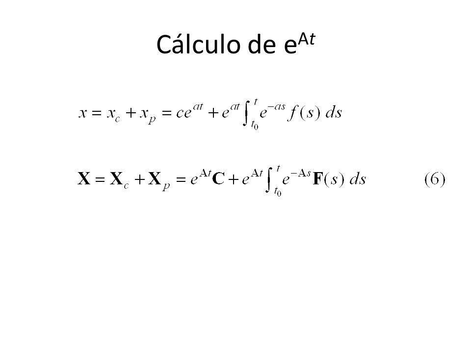 Cálculo de eAt