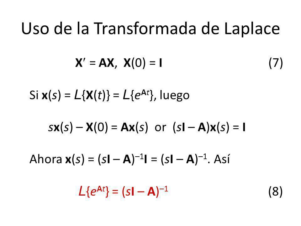 Uso de la Transformada de Laplace