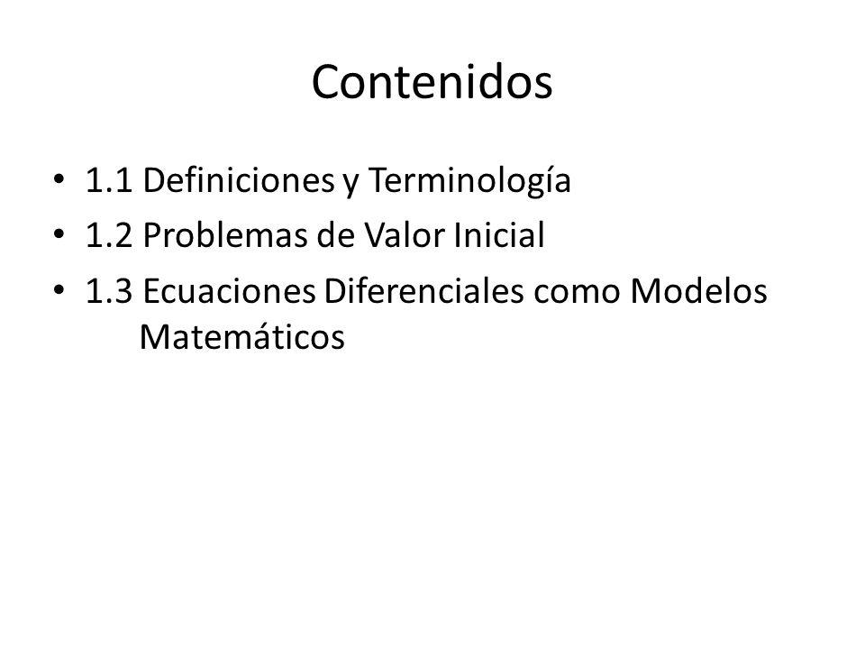 Contenidos 1.1 Definiciones y Terminología